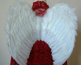 Holy Guardian WHITE Feather Angel Wings WM2 M for Kids
