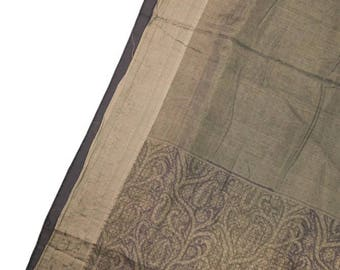 100% Silk Sari Sarong Dress & Printed Women Wrap Decorative Fabric Recycle Curtain Drape 5YD Saree PSS2614