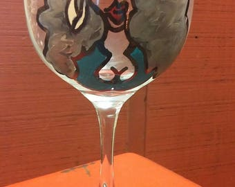Divatude Handpainted Wine Glass