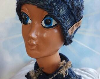 Hat Beanie Denim Blue grey