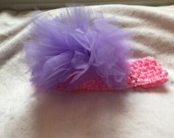 Crochet Tulle Puff headband