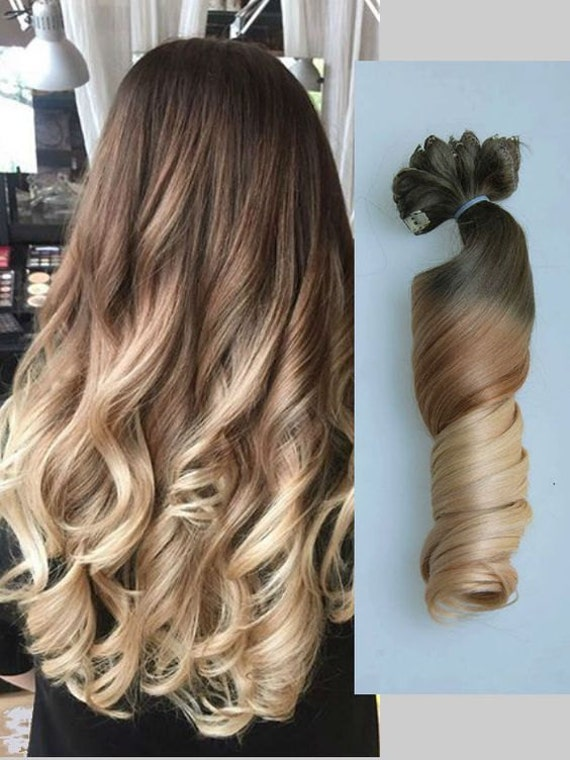 Full head dip dye clip in hair extensions ombre chocolate like this item pmusecretfo Images