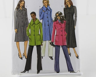 Winter Coat Jacket Pattern, Uncut Sewing Pattern, Butterick 4665, Size 8-14