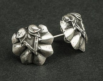 Wildflower ears earrings in silver vintage