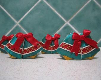 Vintage Christmas Napkin Rings - Bells - Serviette