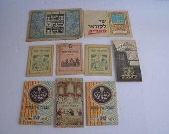 Lot of 9 Vintage Israel Jewish Judaica Passover Haggadahs