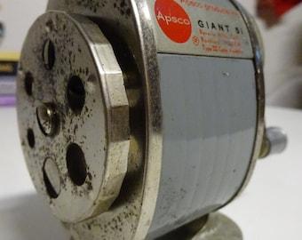 Vintage Industrial Hand Crank Apsco GIANT 51 Pencil Sharpener  Free Shipping