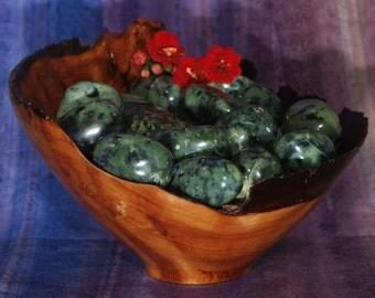 1 GREEN JADE (Peru) Tumbled Stone - Green Jade Crystal, Green Jade Stone, Tumbled Green Jade, Green Jade Gemstone, Green Jade Healing