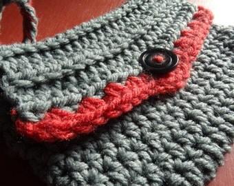 ready to ship, crochet wristlet, crochet purse, boho purse, crochet handbag, wallet, gift for her, women accessories