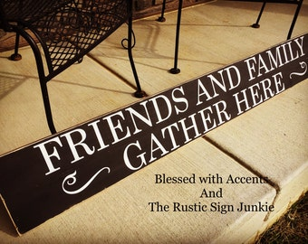 Gather wood sign, gather Sign, gather, wood gather Sign, Rustic gather Sign, gather here sign, dining room decor, wood dining room sign