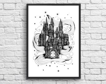 Affiche Art-Poster 50 x 70 cm - Magic Castle