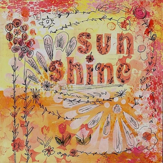 Painting - Sun Shine