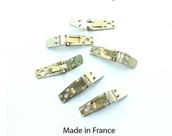 French shoe clips made by Bluette.  Price is for 10 shoe clips (5 pairs)