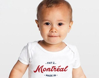 Made in Montreal Baby Onesie