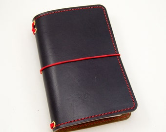 2-Tone 4-Star Field General - Black & Natural Horween® - Field Notes Cover