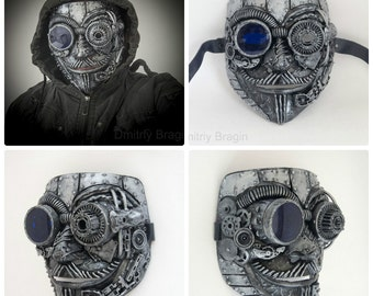 steampunk  techno phantom mascarade mask Anonymous V for Vendetta Halloween Burning man