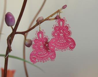 Lace chandelier earrings! Choose your colour! Custom lace earrings