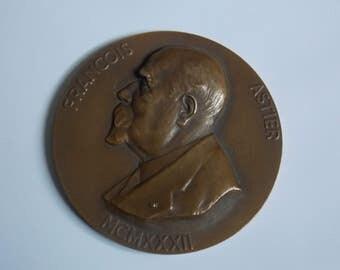 François Astier signed jean magrou france bronze medal