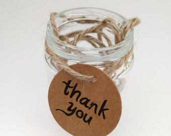 25 Thank You tags - Weddings, showers, birthdays & gifts
