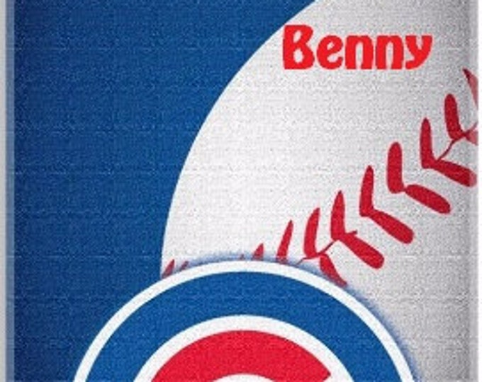 Baseball MLB Chicago CUBS Beach Towel Personalized Towel