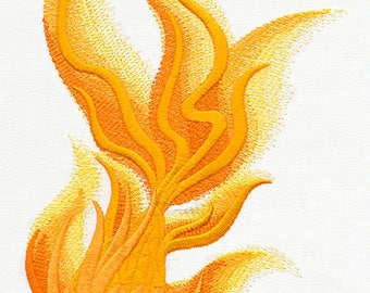 Golden Koi Embroidered Flour Sack Hand/Dish Towel