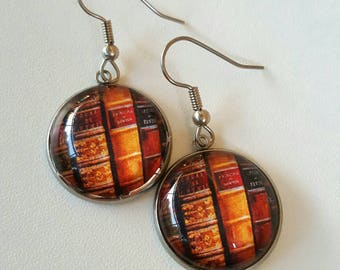 Unique dangle book lover earrings