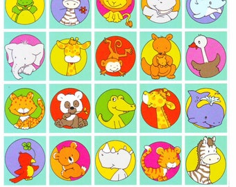 Adorable Animal Holland Stickers Sheet