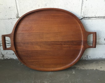 Huge teak tray by Jens Quistgaard for Dansk