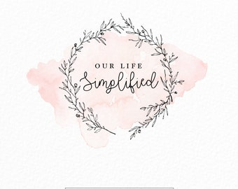 Modern Logo | Watercolor Logo | Wedding Logo | Photography Logo | Event Planner Logo | Whimsical | Blog Logo | Floral Logo | Leaf Logo