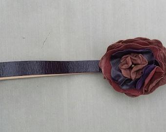 Women's Leather Flower Belt