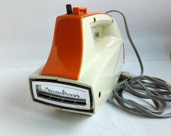 Moulinex Mixer, Orange Almond, Made in France, Vintage 1970's