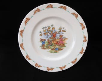 Royal Doulton Bunnykins Plate. Picking Apples.