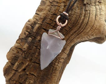 Rustic Arrowhead Necklace, Agate Arrowhead necklace, Boho Arrowhead Necklace, Stone Arrowhead Necklace, ColeTaylorDesigns