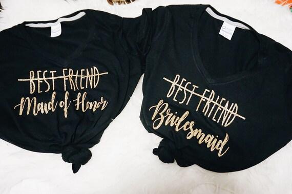 Best Friend to Bridesmaid Tee || Best Friend to Maid of Honor tee || sister to Maid of Honor