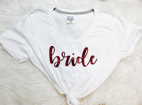 Bride V Neck Tee | Wedding Gift | Bridal Shower Gift