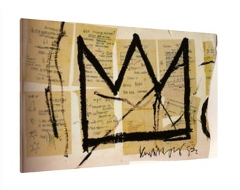 Crown, 1983 by Jean-Michel Basquiat Canvas Print   Gallery Framed   30% off SALE at Checkout Use Coupon Code: JULY30A