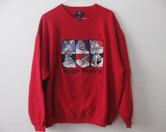 Vintage Warner Brothers Sweatshirt Bugs Bunny Adult XL Large
