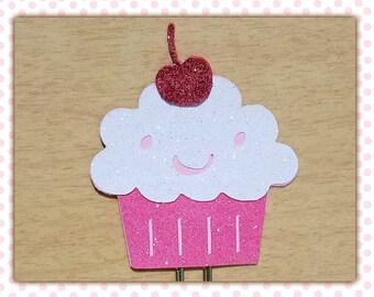 Dreampuff Glitter Cupcake Paperclip Planner Clip