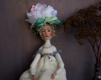 OOAK art flower doll Lois