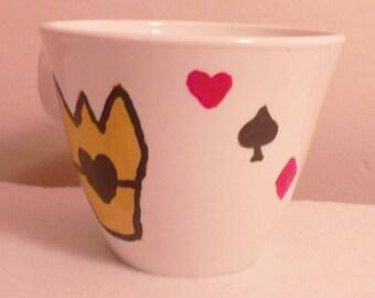 Queen of Hearts Tea Cup