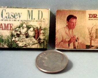 Dollhouse Miniature Vintage Board Games Set #1