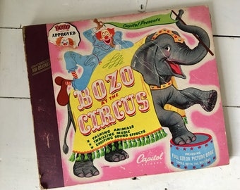 Vintage album with Bozo at the circus