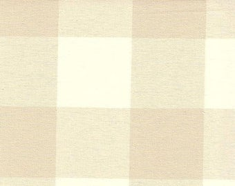 Beige Buffalo Check Drapes Oatmeal Custom Drapery Panel Lined Curtains Blackout Lining Rod Pocket Drape French Country Drape Gingham