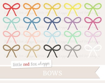 Bow Clipart, Ribbon Clip Art Gift Present Hair Bow Clothes Clothing Gift Wrapping String Cute Digital Graphic Design Small Commercial Use
