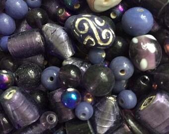 Purple Mix Lamp work Beads