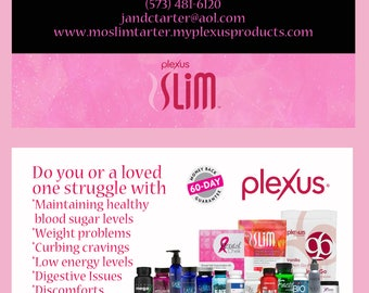 Plexus Slim Business Card NEW LOGOS and SLIM--Customized digital file only--no physical cards