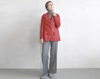 red mod blazer jacket / winter mod blazer / red mod jacket / 60s 70s womens blazer jacket