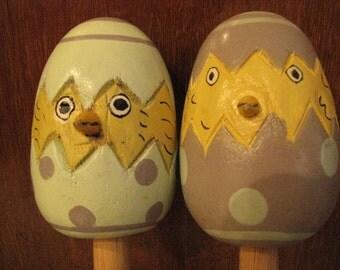 Vintage Easter Egg Salad Fork and Spoon