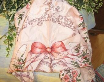 Royal Wedding Souveneir Scarf - 1981