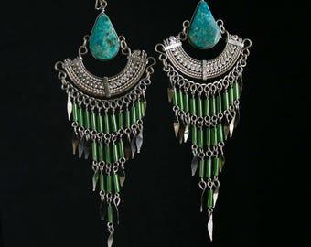 Gypsy Earrings Boho Earrings Tribal Earrings Bohemian Earrings ethnic earrings boho jewelry hippie earrings silver earrings gypsy jewelry